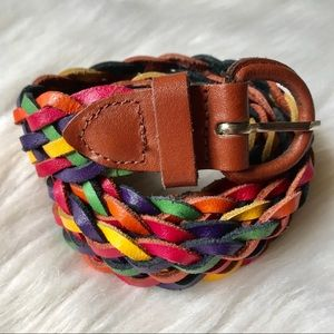 Vintage 90s colorful woven braided belt
